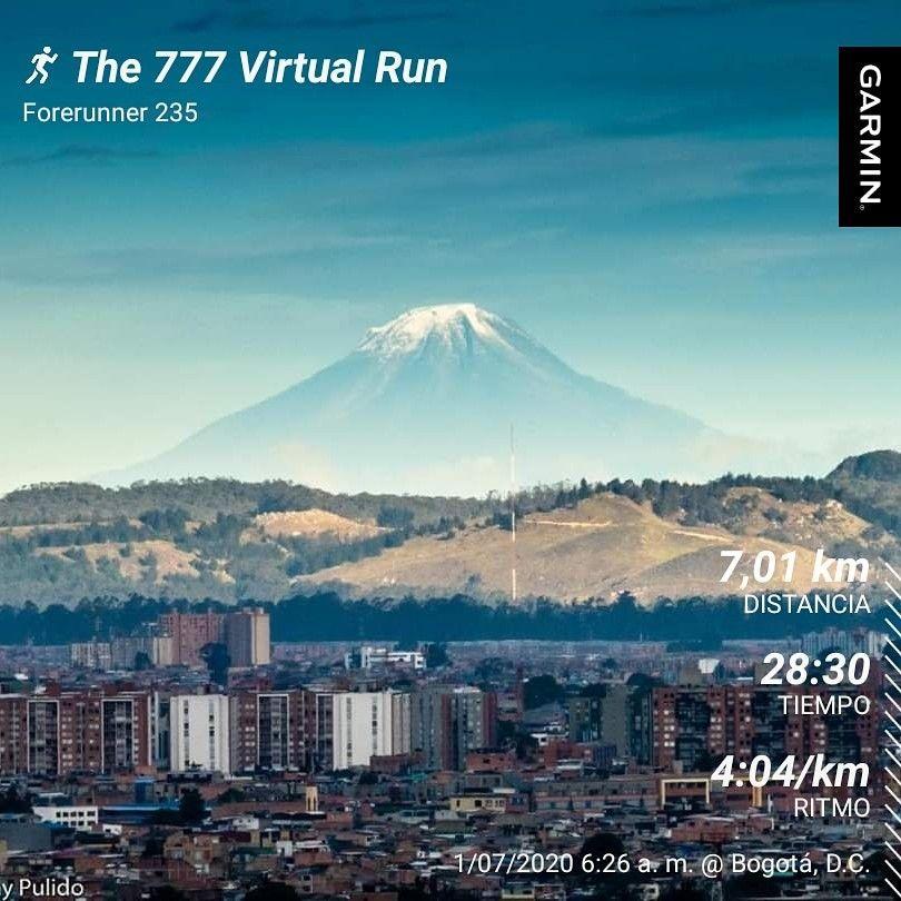 Participacion Carrera 777 Virtual Run