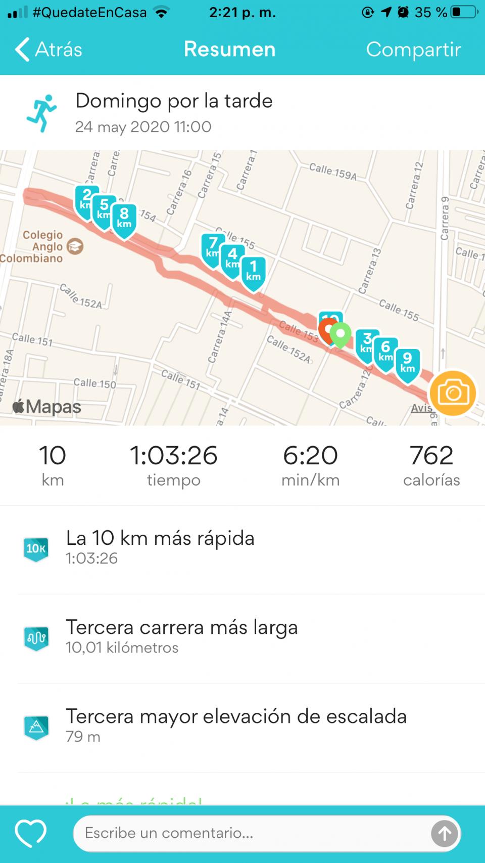 En la carrera de los 10k de hoy