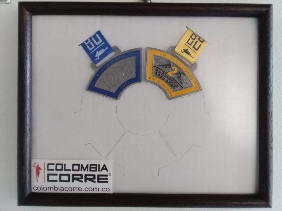 Listo...ya tenemos el marco para las 6 medallas del #Challengeraceseries2020 de #Colombiacorre