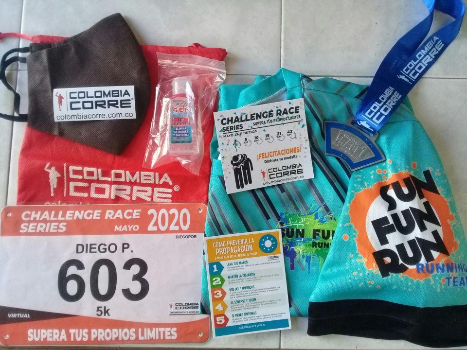 Gracias @Colombiacorre lista la medalla de la primera del #ChallengeSeriesRace2020 La siguiente será una 10K. Felicitaciones a todos los que se atrevieron a enfrentar este reto. Saludos del equipo  @sun_fun_run_sog de Sogamoso!!!